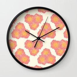 Honeycomb Flower Wall Clock