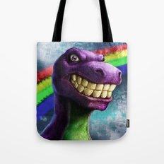 Barney the dinosaur Tote Bag