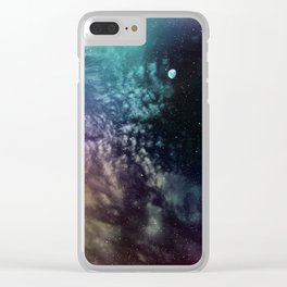 Polychrome Moon Clear iPhone Case