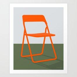 DRØMMEN OM AT FLYVE (chair) Art Print