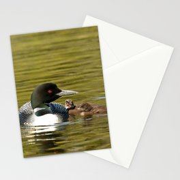 Mother Loon and her twins Stationery Cards