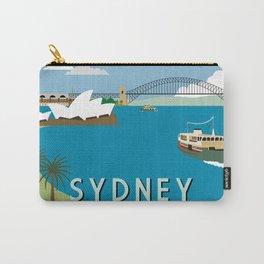 Sydney Harbour Retro Art Print Carry-All Pouch