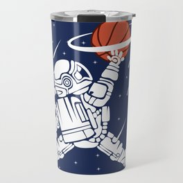 Astronaut basketball star universe Saturn gift Travel Mug