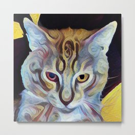 The Dude Cat Metal Print