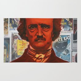 A Portait of Poe Rug