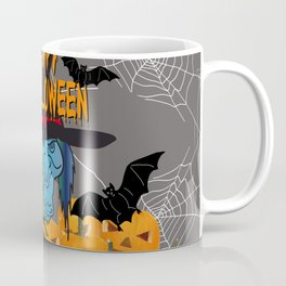 Bats & Witch Happy Halloween Coffee Mug