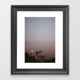 Malibu Moon Framed Art Print