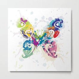 Abstract Flutterby Metal Print