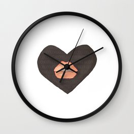 Abby Loves 'Lips & Hearts' by Abby Shepard Wall Clock