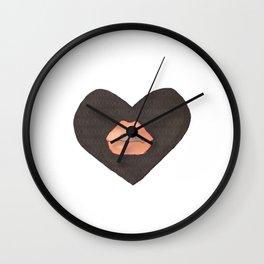 Abby Loves 'Lips & Hearts' by Abby Shepard Wall Clock
