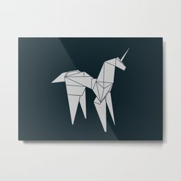 Blade R. Unicorn, Origami Artwork for Wall Art, Prints, Posters, Tshirts, Women, Men, Kids Metal Print
