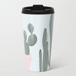 Soft Pastel Cacti Design Travel Mug