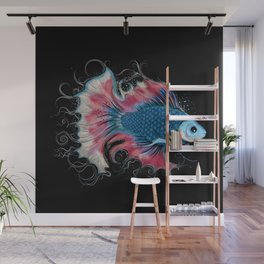 colorful fighting fish Wall Mural