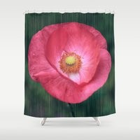 poppy Shower Curtains featuring Poppy by Christine baessler