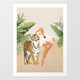 The Lady and the Tiger Art Print