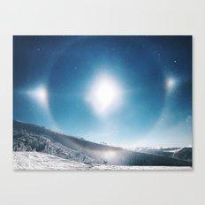 Ice Crystals Reflecting a Sundog Canvas Print