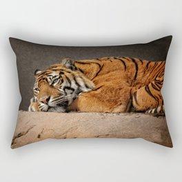 Resting Sumatran Tiger Rectangular Pillow