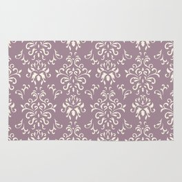 Decorative Pattern in Light Magenta and Cream Rug