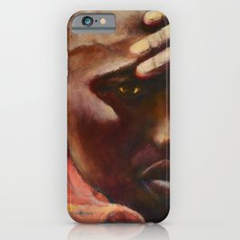Dignity - Portrait of a Maasai Warrior. Oil on Canvas iPhone Case