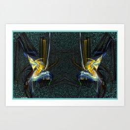 Frakblot Kingfisher Art Print
