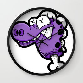 decapitation dino Wall Clock