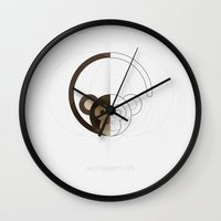 half life Wall Clocks featuring HALF (monkey) LIFE by Nillustra™