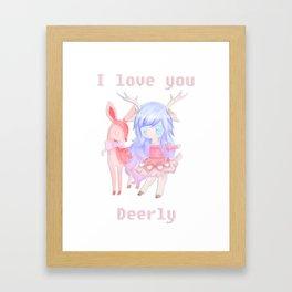 Deerly Framed Art Print