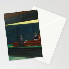 NIGHTHAWKS - EDWARD HOPPER Stationery Cards