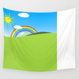 Happy Colorful Planet 03 Wall Tapestry