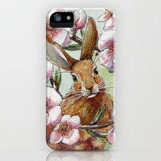 Amandine - Rabbit and flowers Slim Case iPhone (5, 5s)