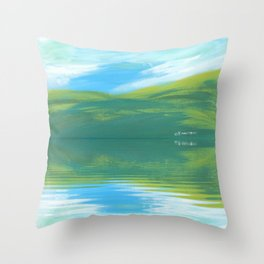 The Clearing With Reflection Throw Pillow