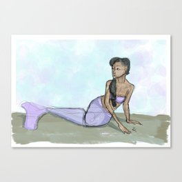 Calm Mermaid Canvas Print