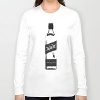 whiskey Long Sleeve T-shirts featuring Whiskey Diver by Luke Brogoitti