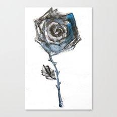 Royal Blue Rose Canvas Print