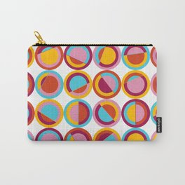 Abstract Circle Pattern Carry-All Pouch