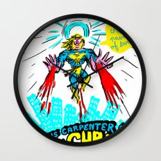 we need a hero to fight the evil Santa Claus Wall Clock
