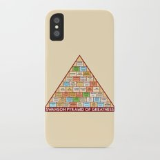 ron swanson's pyramid of greatness Slim Case iPhone X