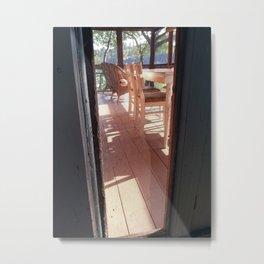Through the Screen No. 2 Metal Print