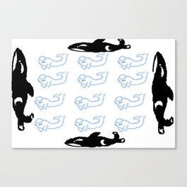 whale pod Canvas Print