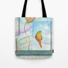 Song for Orange Bellied Parrot Tote Bag