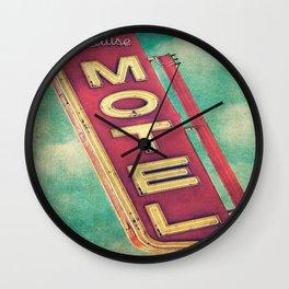 Paradise Motel Sign Wall Clock
