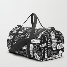 Gamer Lingo-Black and White Duffle Bag