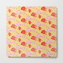 Roses pattern 3b Metal Print