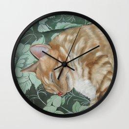 Catnap Sleeping Cat Painting Wall Clock