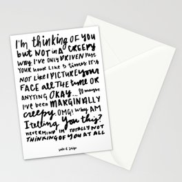Not Creepy Stationery Cards