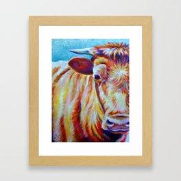 Cow Close-Up (*Koinonia*) Framed Art Print