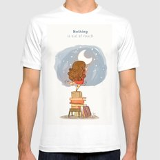 Nothing is out of reach MEDIUM Mens Fitted Tee White