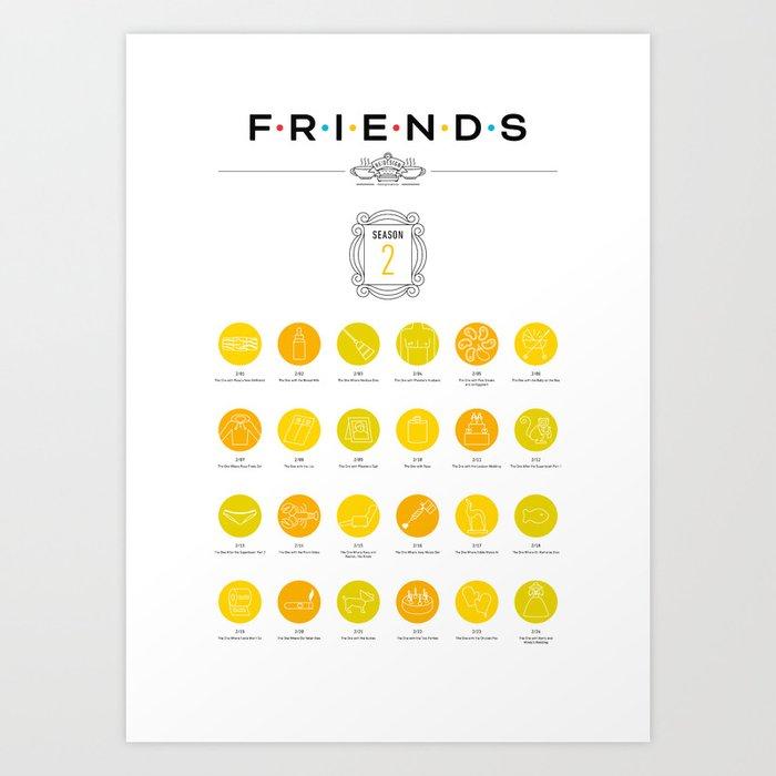 Tribute to Friends: Season 2 Art Print