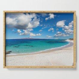 Kastraki beach of Naxos island in Cyclades, Greece Serving Tray