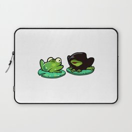 Evil Frogs Give Bad Ideas Laptop Sleeve